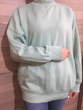 Mint yeşili sweat