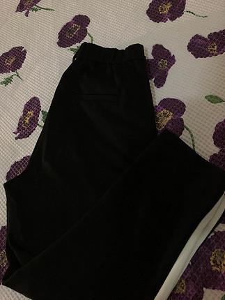 s Beden siyah Renk Beyaz şeritli kumaş pantalon