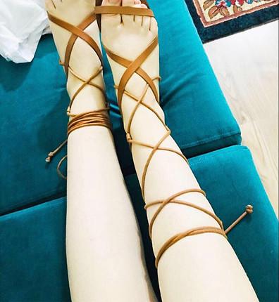 38 Beden taba Renk İpli sandalet