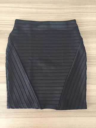 Siyah Bershka Mini Etek