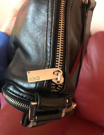 universal Beden siyah Renk Mango hakiki deri siyah çanta