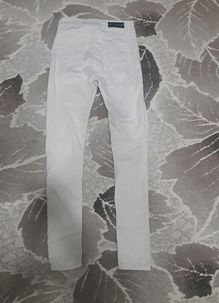 Diğer beyaz yüksek bel pantolon