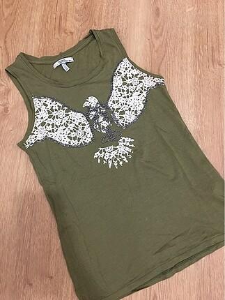 Asker yeşili bluz