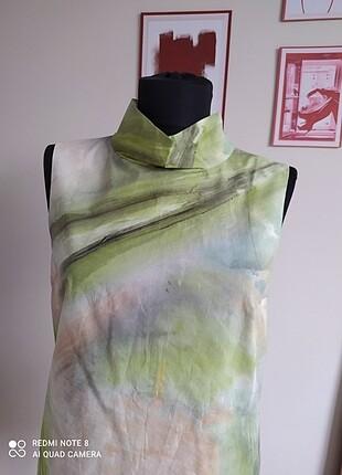 Cos yeşil desenli bluz