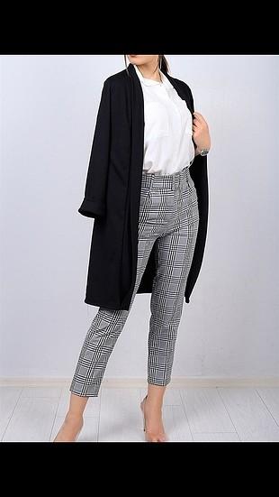 uzun siyah blazer ceket