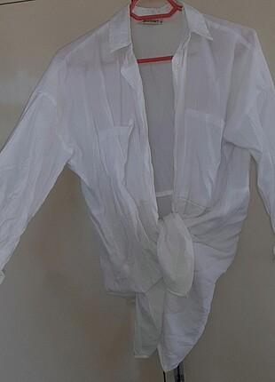 m Beden Beyaz gömlek