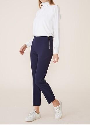 Laci - Yandan Fermuarlı Beli Lastikli Pantolon