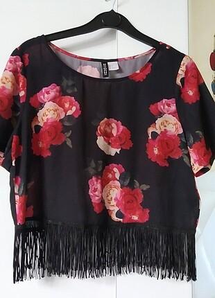 H&M H&m püsküllü bluz