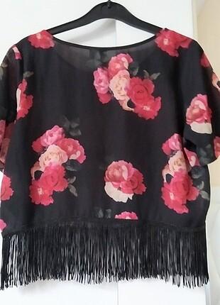 s Beden çeşitli Renk H&m püsküllü bluz