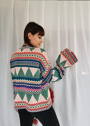 Trendyol etnik desenli kazak