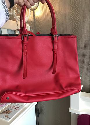 universal Beden Kırmızı Zara çanta