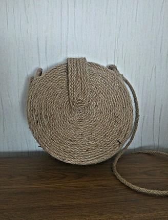 Zara Kapaklı Hasır Çanta
