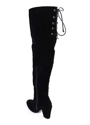 Pelinin Ayakkabıları Uzun çizme bağcıklı süet