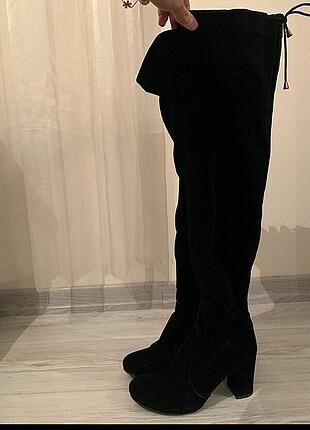 38 Beden Uzun çizme bağcıklı süet