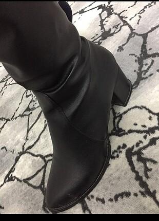38 Beden Pelinin ayakkabıları çizme muadil siyah uuzn fermuarlı butik ürü