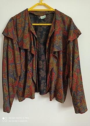 Vintage Renkli Bluz