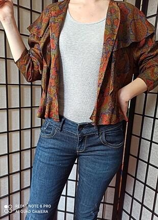 Vintage Love Vintage Renkli Bluz