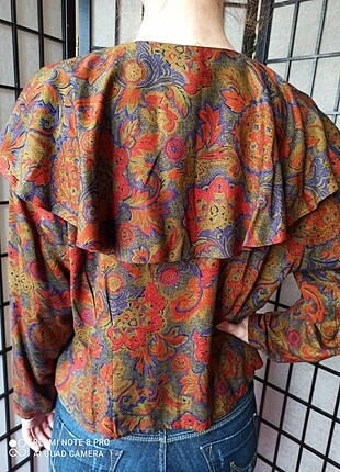 m Beden Vintage Renkli Bluz