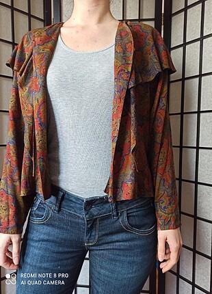 m Beden çeşitli Renk Vintage Renkli Bluz