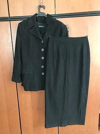 Siyah Kadın Takım Ceket Etek