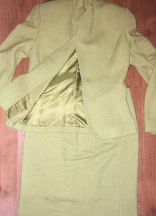 Vintage yesil ceket takım
