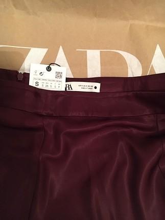 Zara Zara Kalın Saten Etek ve bluz