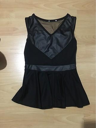 Tasarımcı Siyah bluz