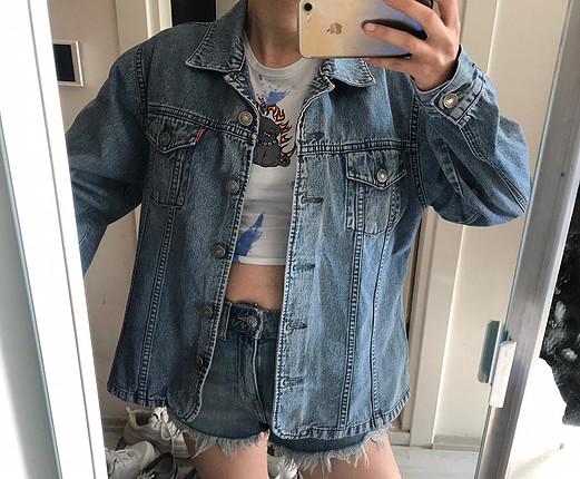 Fankot jeans vintage oversize kot ceket