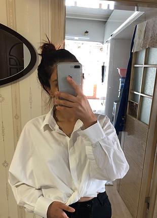 m Beden beyaz Renk uzun kol gömlek