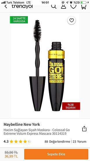 Maybelline The Colossal Go Extreme Leather Black Maskara