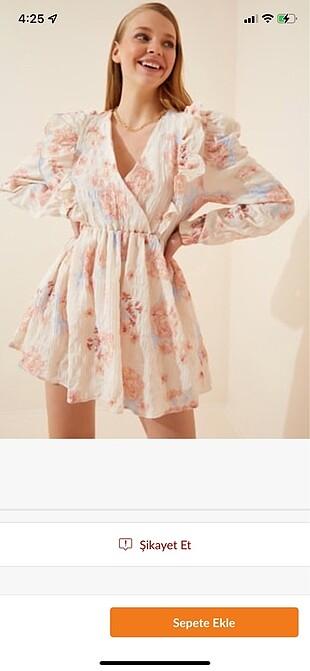 cicekli elbise