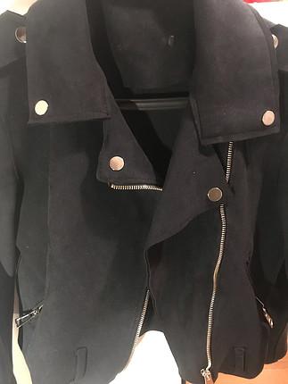 Zara Siyah süet ceket