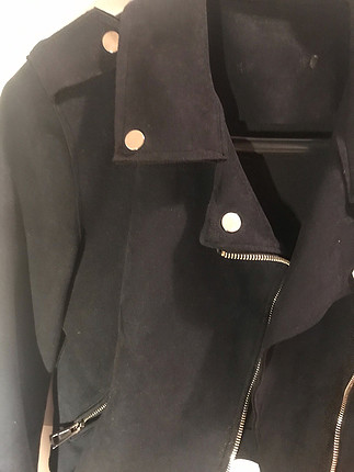 s Beden Siyah süet ceket
