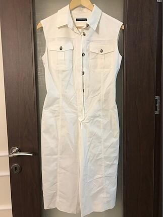 Vakko 38 beden çok şık beyaz elbise