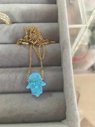 Gümüş üzerine gerçek opal taşı