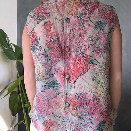 m Beden çeşitli Renk İpek Desenli Bluz