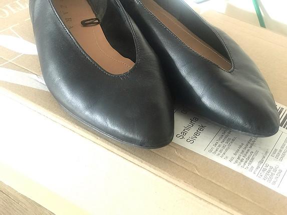 Zara Zara gerçek deri siyah babet
