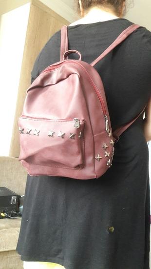 bordo renkli sırt çantası
