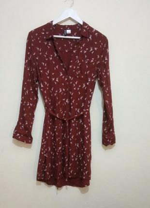 839918cdc074a H&m Kuşlu Gömlek Elbise H&m Günlük Elbise %60 İndirimli - Gardrops