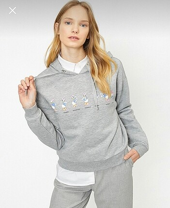 Koton Crop Sweatshirt