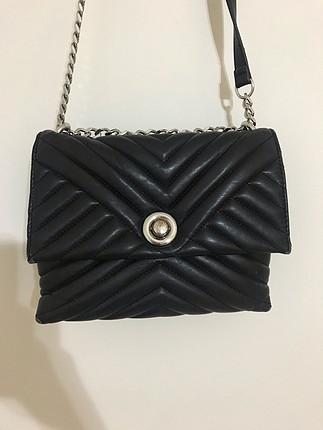 universal Beden siyah Renk Mango askılı omuz çantası