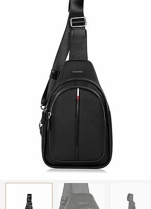 Siyah kırmızı unisex çanta