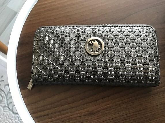 Polo gri bayan cüzdan