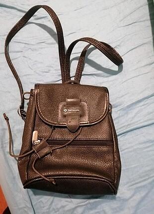 Samsonite hakiki deri sırt çantası