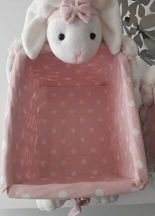 Bebek odası hasır sepet tavşanlı