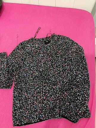 Zara rengarenk payetli ceket