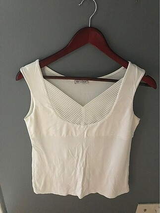 Vakko beyaz kolsuz bluz