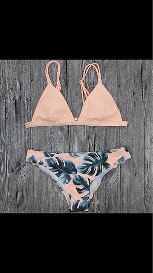 Yaprak desenli bikini