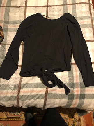 Zara sırtı açık bluz