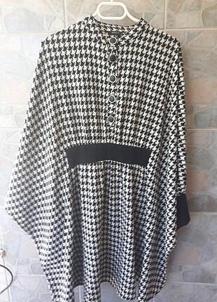 Kazayağı desen kışlık elbise